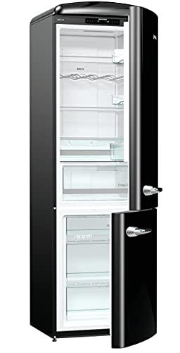 Gorenje ONRK 193 BK - Frigorifero combinato A+++ altezza 194 cm/raffreddamento: 222 l/congelatore: 80 l/nero/NoFrost/cassetto ZeroZone (0 gradi) / Oldtimer/Retro Collection