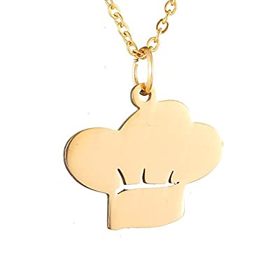 AOCHEE Chef Hat Shaped Pendant Necklace Cooking Symbol Jewelry ¡­