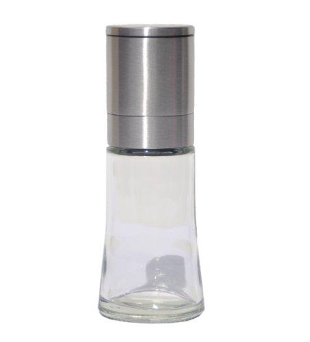 direct&friendly Gewürzmühle Pfeffermühle Salzmühle Glas und Edelstahl mit Keramikmahlwerk