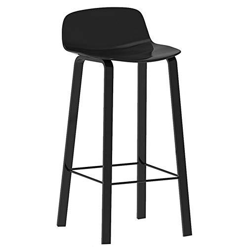 LXYu- Office Chair Taburete de Bar de Cocina Sillas Asiento de PP Soporte de Acero al Carbono Taburetes de Bar Modernos Mostrador Altura de Asiento 75 cm / 65 cm