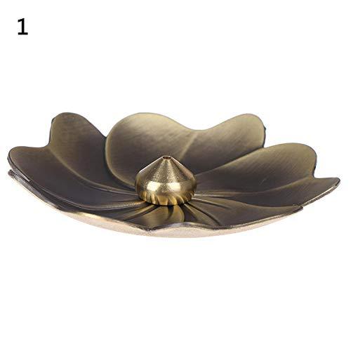 bbbb Blumenform Home Weihrauchhalter Metall Lotus Backflow Weihrauchbrenner Legierung Duft Ofenplatte Ständer Parfüm-1