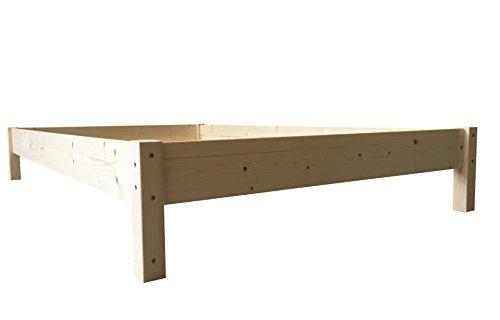 LIEGEWERK Futonbett Bett Holz Holzbett Massivholzbett 90 100 120 140 160 180 200 x 200cm, hergestellt in BRD (90 cm x 200 cm)