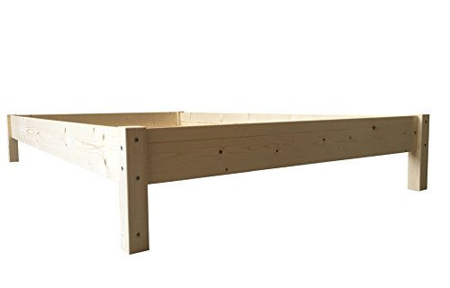 LIEGEWERK Futonbett Bett Holz Holzbett Massivholzbett 90 100 120 140 160 180 200 x 200cm, hergestellt in BRD (160 cm x 200 cm)