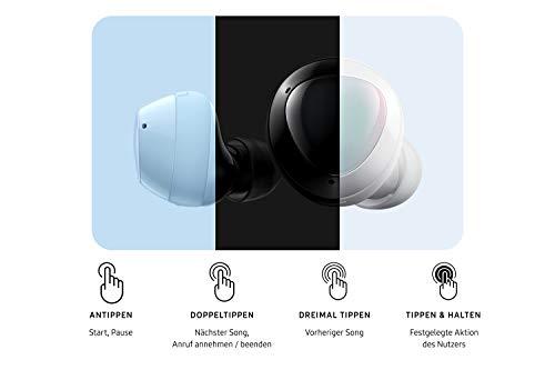 Samsung Galaxy Buds +, Kabellose Kopfhörer, 3 Mikrophone, Sound by AKG, ausdauernder Akku, 2-Wege-Lautsprecher Bluetooth, Schwarz (Deutche Version)