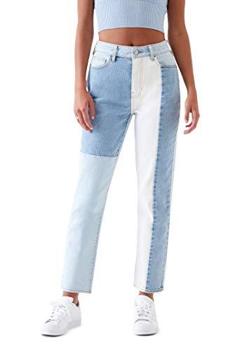 PacSun Women's Eco Hopper Patch Mom Jeans - Blue Size 23
