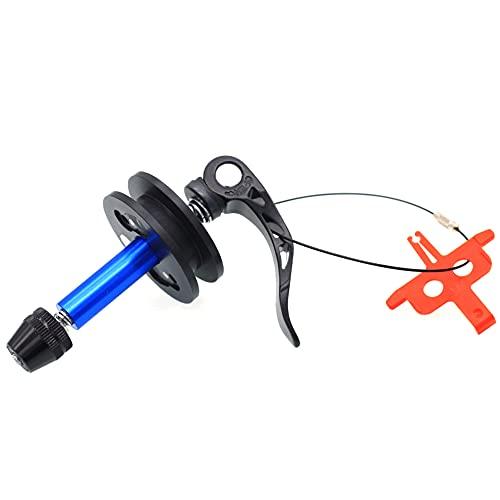 Cadena de Bicicleta Bicicleta Titular Guardián Cadena sostenedor Flexible del maniquí Eje de liberación rápida del Protector de la Rueda de Bicicleta