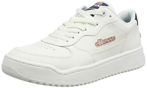 ellesse Damen Varesse Sneaker, Mehrfarbig (White/White/Dark Blue Wht/Wht/Dk Blu), 38 EU