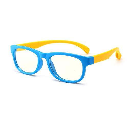 TOFOX Kinder Brillen Ohne Stärke Brillenfassung Blaulichtfilter Schutzbrille Bildschirmbrille Gamingbrille Computerbrille