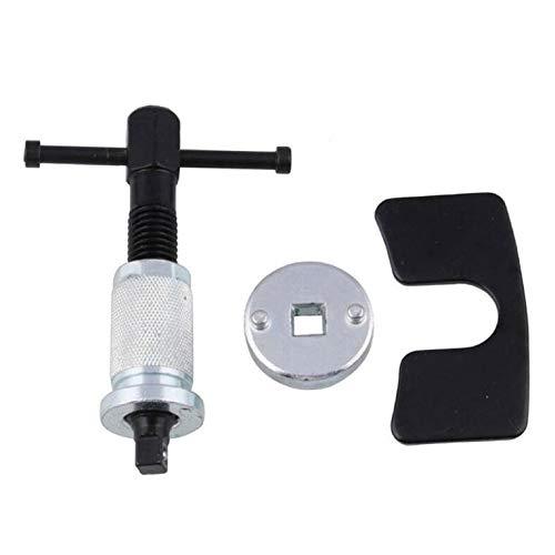 QiKun-Home 3 uds Pinza de Freno Universal Ajuste del pistón Cilindro de Freno desmontaje y Montaje de la Pastilla de Freno Herramienta de Repuesto Plata + Negro