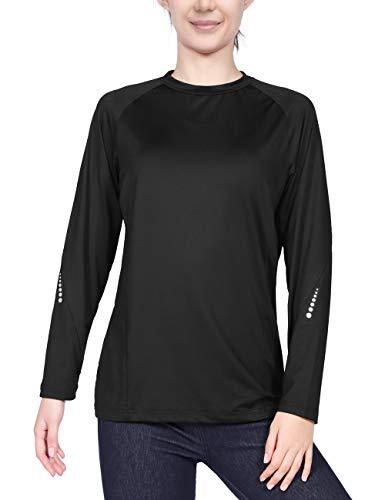 DISHANG vrouwen workout atletische lange mouwen hardloopshirts Gym compressie snel droog mesh terug trui