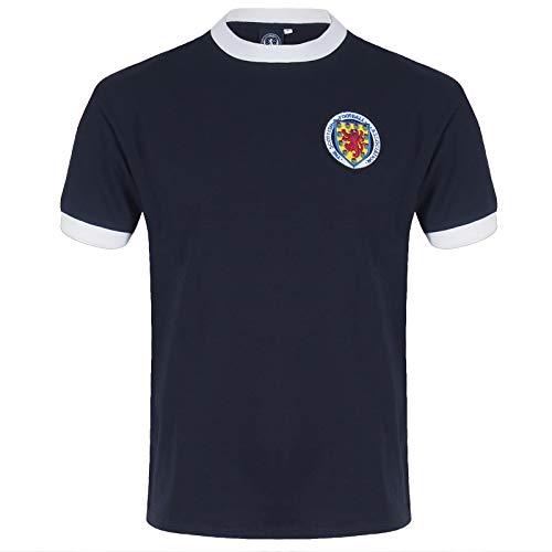 Scotland Escocia - Camiseta Copas del Mundo para Hombre - Producto Oficial Retro - 1967/1978 - Azul Marino - 1967 - N.° 10 - Grande