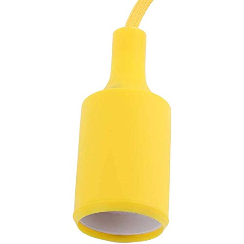 Bunte Glühbirne Halter Fashion Interior Home, E27 Silikon Deckenleuchte Halter Pendelleuchte Lampenfassung Für Haus Gewerbe,Gelb