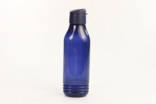 TUPPERWARE To Go Eco 750 ml dunkelblau Trinkflasche EcoEasy Flasche dreieckig