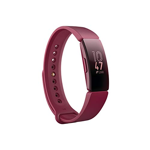 Fitbit Inspire Fitness Tracker, Sangria, One Size (s & L Bands Included)
