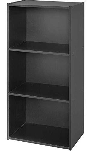 アイリスオーヤマ カラーボックス 3段 13色 収納ボックス 本棚 幅41.5×奥行29×高さ88cm ブラック CX-3