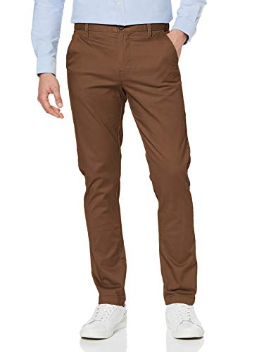 Amazon-Marke: MERAKI Herren Chinohose Slim Fit, Braun (Tobacco Brown), 34W / 32L, Label: 34W / 32L