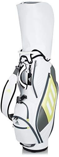 [アディダスゴルフ]メンズキャディーバッグBG329ホワイト/アシッドイエロー