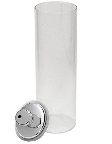 Felio保存容器ガラスキャニスター1800ccエア・リデューサースリムワンタッチ操作密閉酸化防止色移り心配なしF95061個入