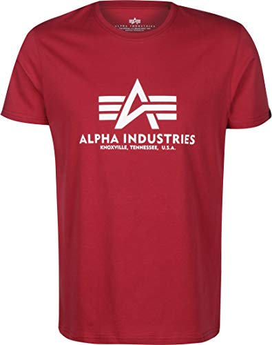 Alpha Industries Basic T-Shirt Dunkelrot XL