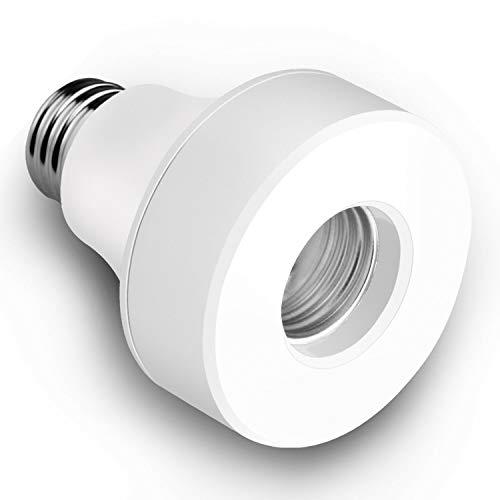 Gfhrisyty E27 / E26 WiFi Adaptador de Enchufe de Bombilla Inteligente Soporte de LáMpara para Home Alexa