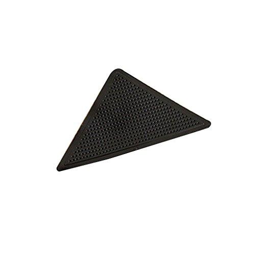 ELENXS New 4Pcs Wiederverwendbare Waschbare Teppich Teppich Mat Greifer Nicht Beleg-Aufkleber-Silikon-Grip für Home Bade Wohnzimmer
