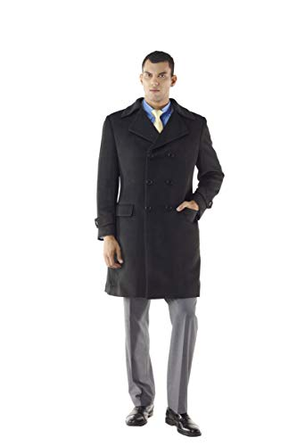 Ulster Style Men's Double Breasted Custom Tailored Overcoat from MyCustomTailor (42R)
