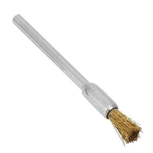 Juego de cepillos de alambre Cepillo de alambre de cobre Rueda de alambre de cobre Estable 10 piezas para herramienta de amoladora para máquina(3 * 8mm copper wire brush)