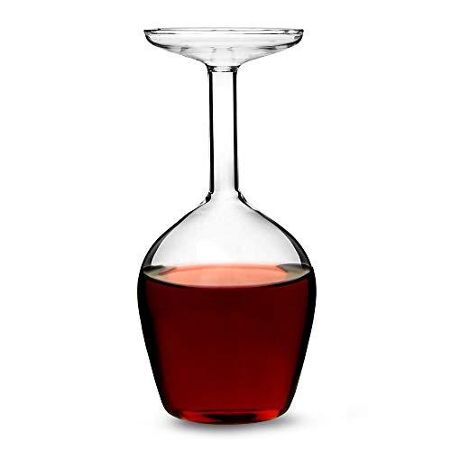Upside Down Weinglas - Kopfstand Rotweinglas