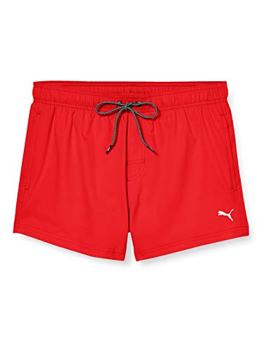 PUMA Men Short Length Swim Shorts Bañador, Rojo (Red), XL para Hombre