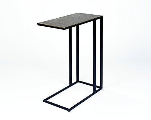 Lambert Nara Beistelltisch Aluminium 51 x 26 x 62 cm, Metall, Graphit, schwarz, One Size