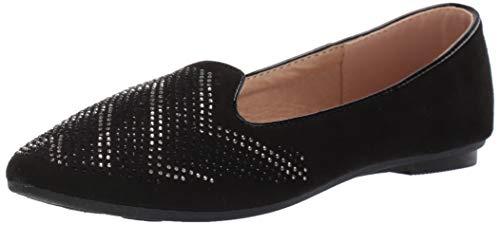 Kensie Girl Girl's Megan Shoe, Black, 3 Medium US Little Kid