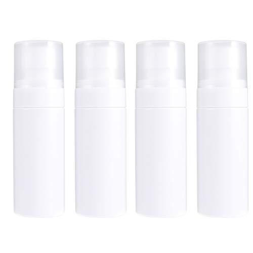 DOITOOL 4Pcs Bouteilles de Pulvérisation de Brouillard en Plastique Transparent Vides Maquillage Contenants Rechargeables Bouteilles D'échantillons pour Liquides Cosmétiques Parfums (50 ML Blanc)