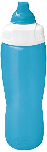 zak! Trinkflasche Squeeze 810ml in Aqua blau/weiß, PE Kunststoff, 45x20x15 cm