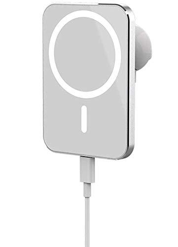 Cargador de coche magnético inalámbrico de 15 W, Convient Fast Charging Car Phone Holder, para iPhone 12/12 Pro Max Mini con soporte para teléfono de coche con cargador inalámbrico de carga rá