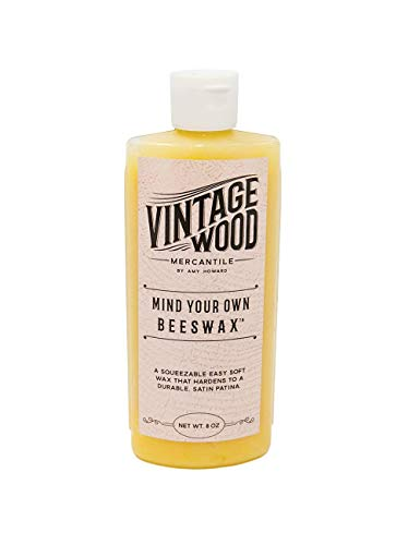 Amy Howard at Home | Vintage Wood - Mind Your Beeswax | Wood and Metal Protective Finish, Seal & Conditioner | Satin Sheen Antique Furniture Finish | Carnauba and Beeswax Combination | Soft Wax | 8 Oz