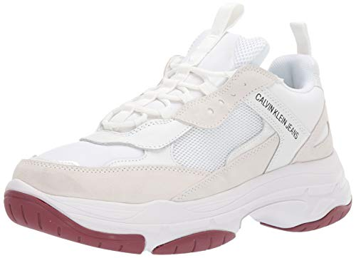 Calvin Klein Jeans Hombres Blanco Marvin Chunky Zapatillas-UK 8