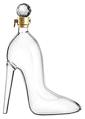 Decantador Fijadores de licor reutilizables, Decantador de Whisky High Tacones Modelado para Whisky Rum Vino Spirits licor Decantadores de alta capacidad Ocasiones - Cumpleaños, Navidad, Aniversario D
