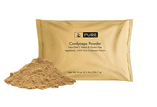Natural Cordyceps Powder, 8 oz, 1000 mg Serving, Increases Energy, Stamina, and Endurance, Non-GMO, Gluten-Free, Lab Tested, Best Value, No Additives, Eco-Friendly Packaging