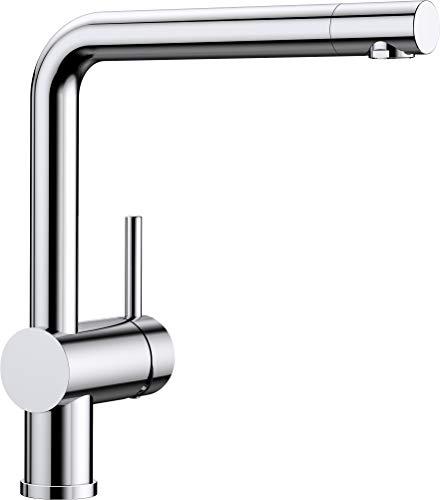 BLANCO LINUS – Moderne Küchenarmatur mit hohem Auslauf – Niederdruck – Chrom – 514020