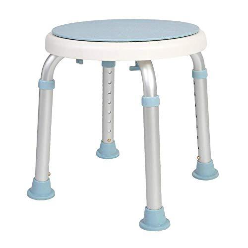 AGWa 360 Grad drehbarer Duschstuhl, Werkzeug Freier Verstellbarer Duschhocker Wanne-Stuhl und Badewanne Sitzbank mit Anti-Rutsch-Gummi-Tipps für Sicherheit und Stabilität für Behinderte, Senioren und