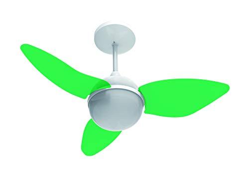 Ventilador de Teto com Controle Remoto Aliseu Smart 220V Verde