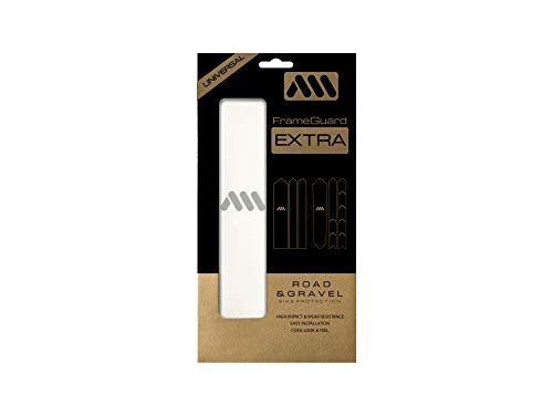 All Mountain Style AMS Frame Guard Gravel/Road - Protects Your Bike from Scratches and dings, Clear/Silver