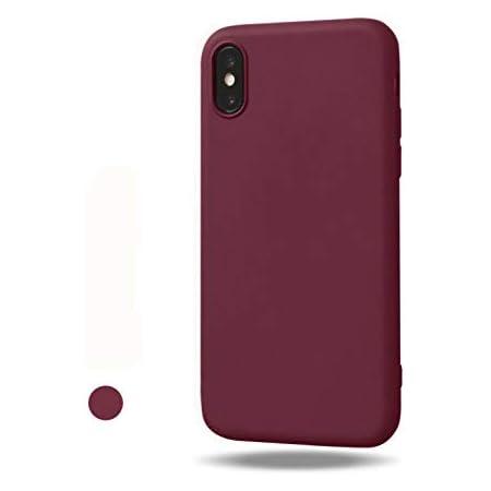 Freessom Coque iPhone 7/8 Silicone Bordeaux Mat Apple Couleur Souple Slim Simple Anti Choc Ultra Mince Fine Originale Fantaisie Leger en TPU ...