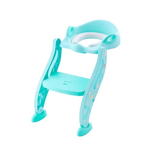 Lovebaby Chaise pour bébé Step Step pour tout-petit avec siège de toilette, fille, siège d'enfant pour bébé fille, enfant rembourré et solide et large marche anti-glisse (Color : Green)