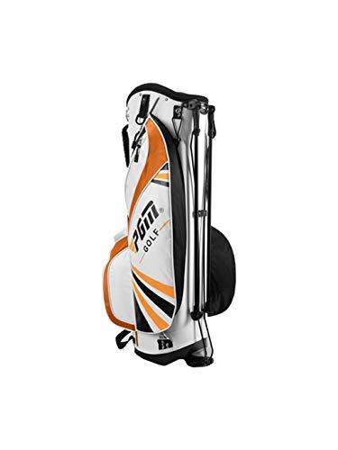 CHENG BAG Sac à Dos de Golf, Unisexe Grande Capacité 6 Pôle Paquets Nylon Imperméable Poids Léger Base Stable Multifonction Sac à Main Portable (Couleur : Orange)