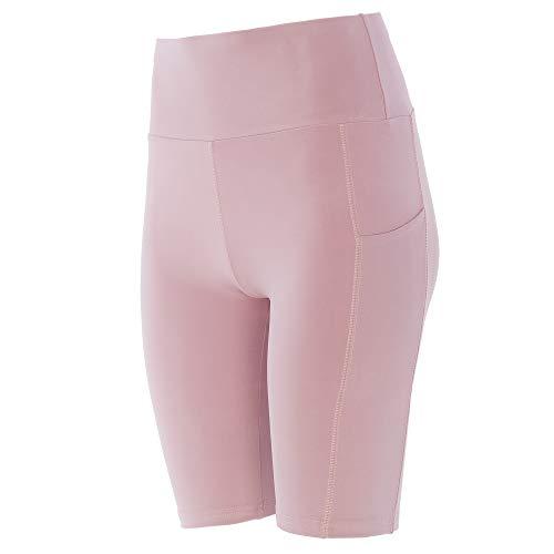 Trendcool Pantalones Cortos Mujer. Pantalones Chandal Mujer. Mallas Cortas Mujer. Short Deportivo Mujer. Shorts Elasticos Fitness Rosa (M8, L/XL)
