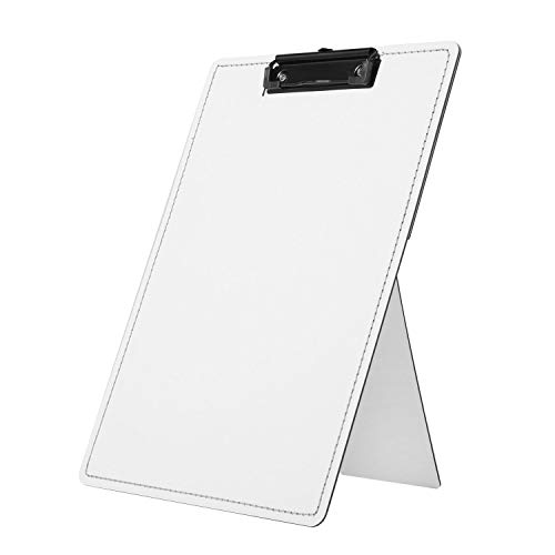 Easel Clipboard Desktop Document Holder for Typing Standing Clipboard for Desk, Holds Letter Size and A4 Size Documents, Folds Flat for Storage,9 x 13 inches (White)