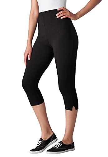 Woman Within Plus Size Stretch Cotton Capri Leggings