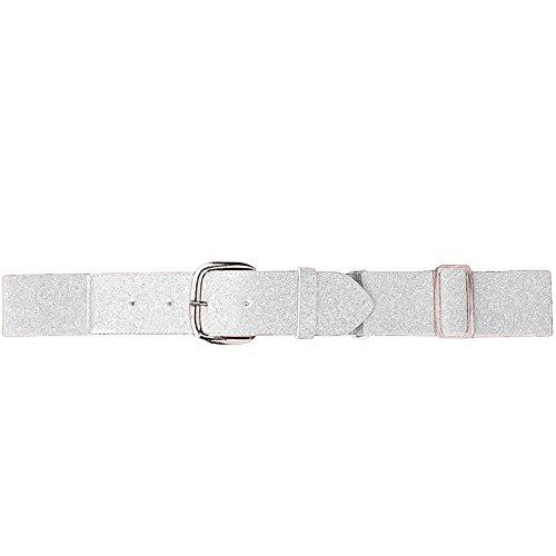 Augusta Sportswear AK-848061073379 Men's Elastic Baseball Belt, One Size, White