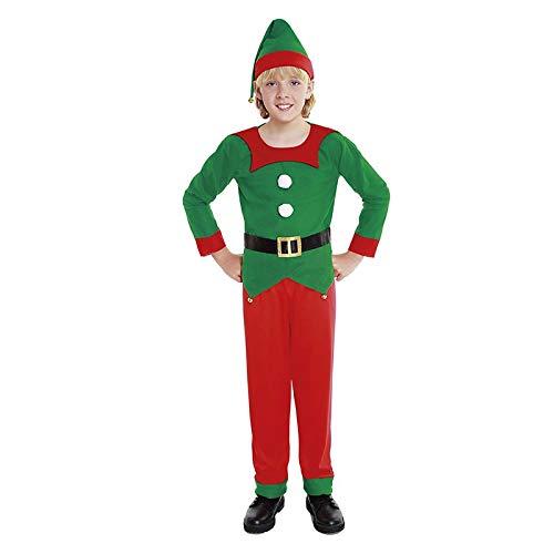 H HANSEL HOME Disfraz Elfo Infantil - Niño Vestido para Cosplay/Navidad Size 3-4 años